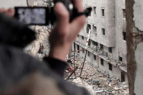 syria media activist filming dec2012 demotix 468
